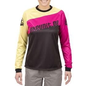 Bikeunit Gravity Pro Naiset Pyöräilypaita pitkähihainen , vaaleanpunainen/musta
